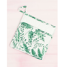 April Cornell Fern Potholder Spring Green
