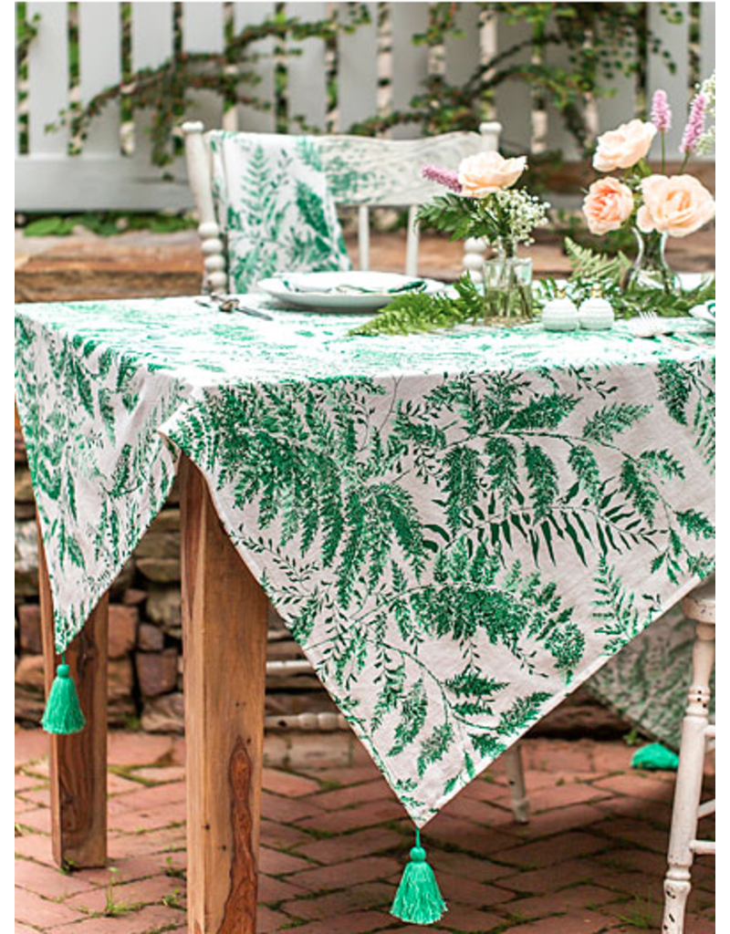 April Cornell Fern Tablecloth Spring Green