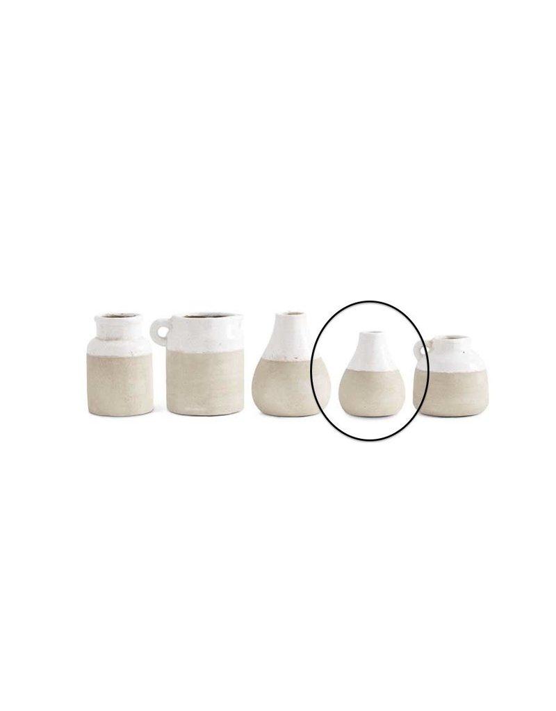 K & K Interiors 5 inch Ceramic Vase w Cream Top
