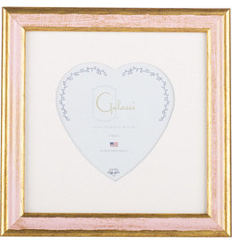 Galassi Traditional Pink Heart Frame 3 x 3