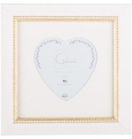 Galassi Vanilla Gold Bead Heart Frame 3 x 3