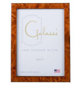 Galassi Thin Chestnut Burl Frame 5 x 7