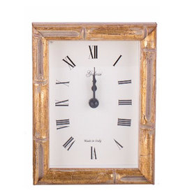 Galassi Gold Bamboo Alarm Clock