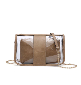 Buford Wholesale Clear Crossbody Bag in a Bag