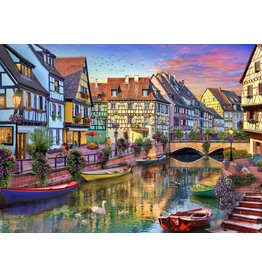 Vermont Christmas Company Colmar Canal Jigsaw Puzzle 1000 piece