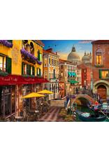 Vermont Christmas Company Venice Cafe Jigsaw Puzzle 550 piece