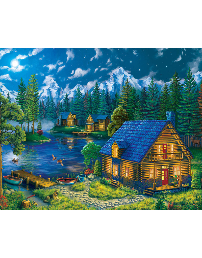 Vermont Christmas Company Forest Cabin Jigsaw Puzzle 1000 piece