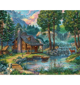 Vermont Christmas Company House by the Lake Jigsaw Puzzle 1000 piece