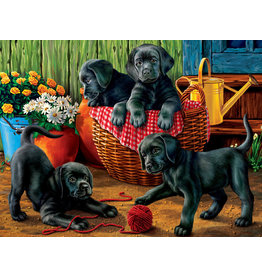 Vermont Christmas Company Puppy Fun Jigsaw Puzzle 550 Piece