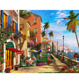 Vermont Christmas Company Mediterranean Terrace Jigsaw Puzzle 1000 Piece