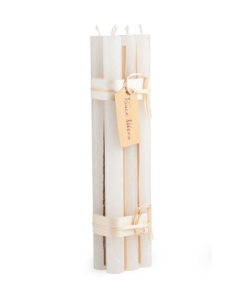 Vance Kitira Candles Timber Taper Bundle/6 Melon White