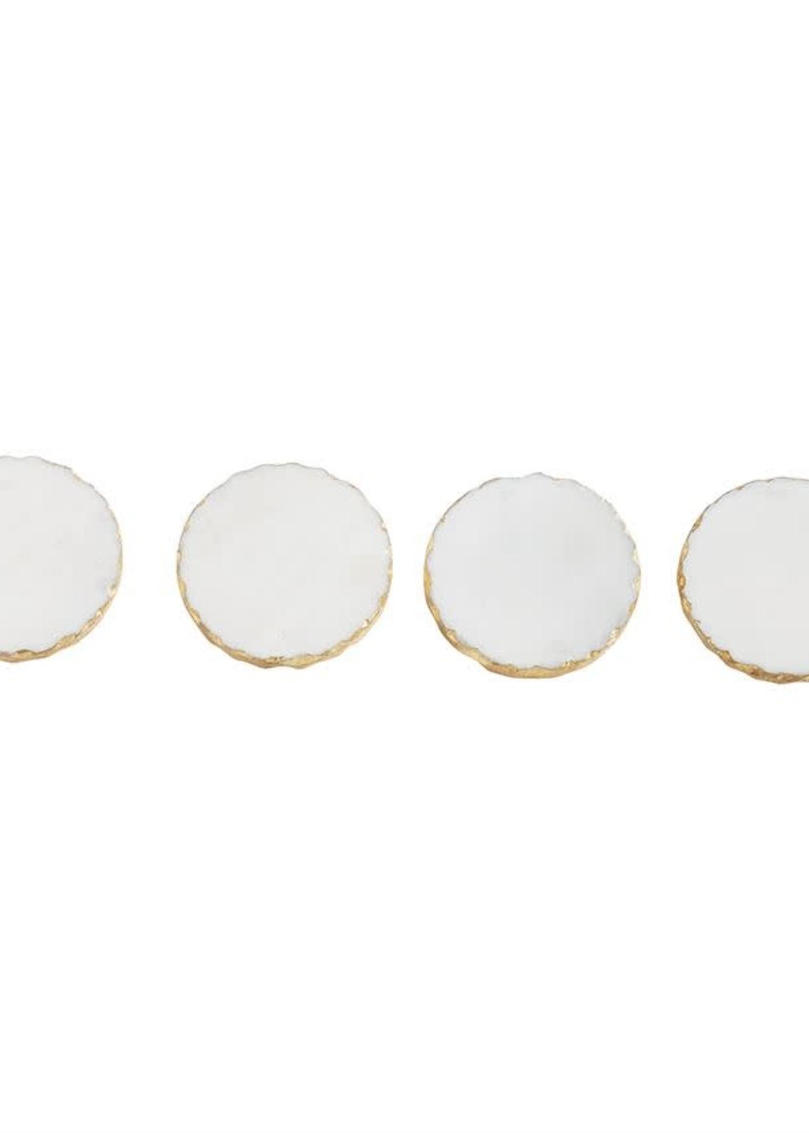 Mud Pie Gold Marble Foil Coaster Set/4