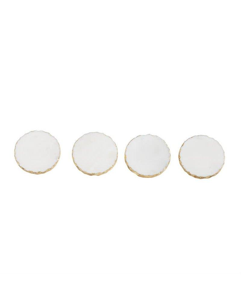 mud Gold Marble Foil Coaster Set/4