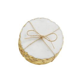 Mud Pie Gold Marble Foil Coaster Set/4