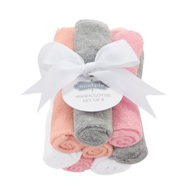 Mud Pie Girl Washcloth Set