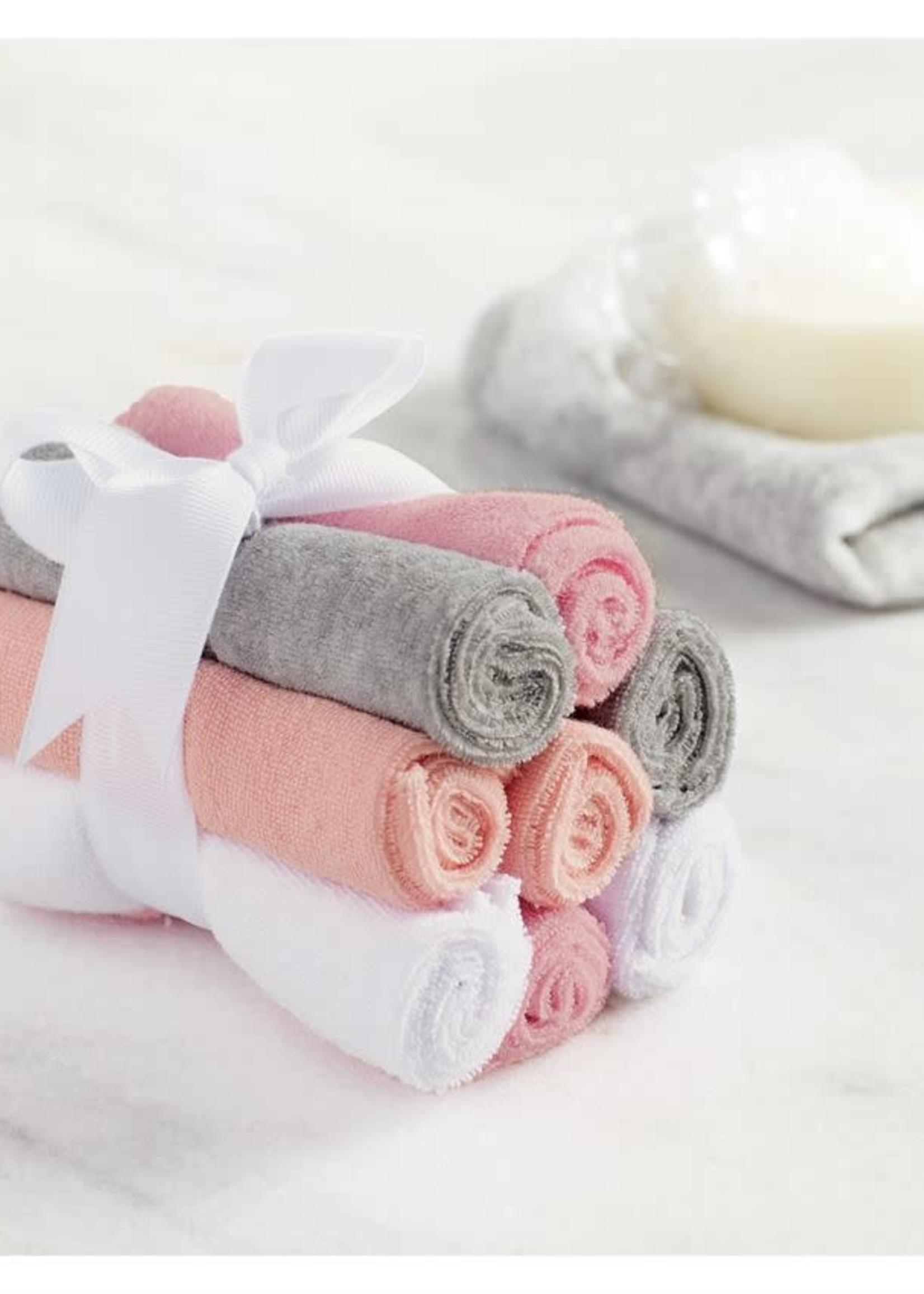 Mud Pie Girl Washcloth Set