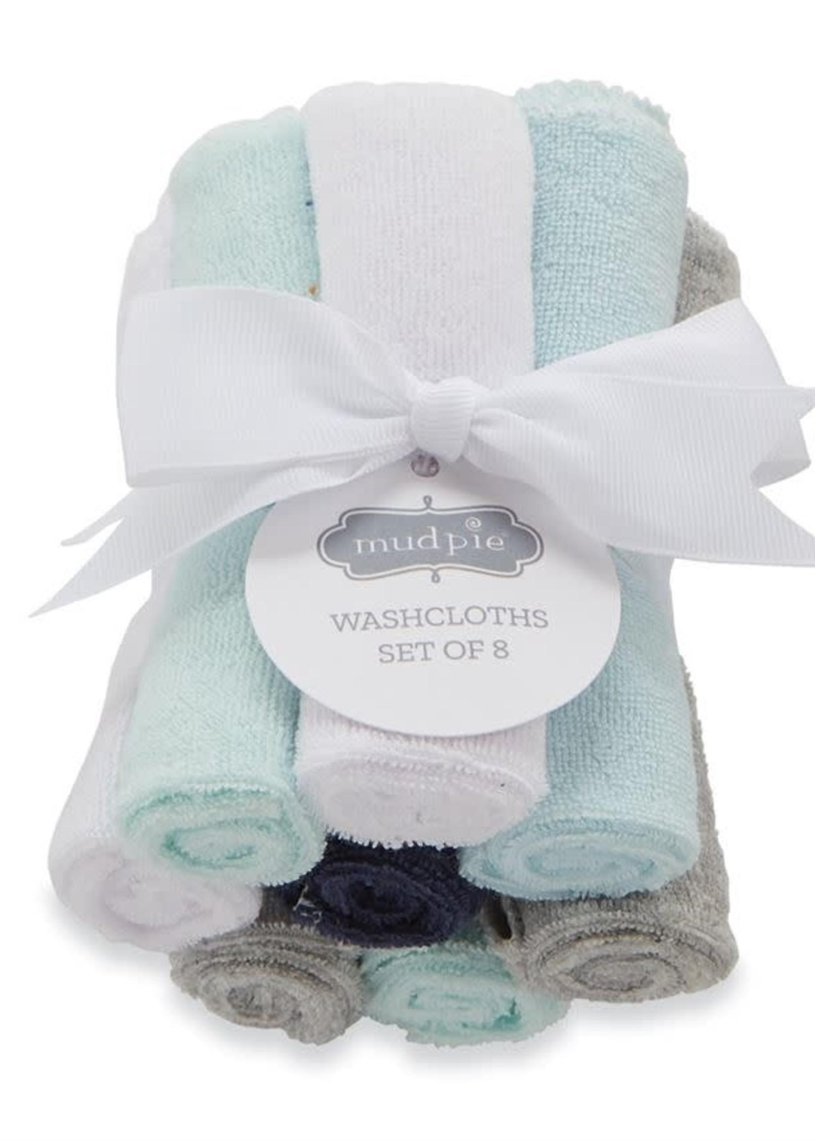Mud Pie Boy Washcloth Set