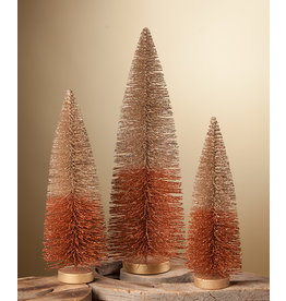 Bethany Lowe Designs Fall 2 Tone Glitter Tree set/3