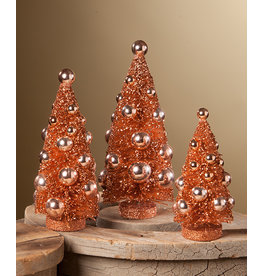 Bethany Lowe Designs Fall Romantic Bottle Brush Tree set/3
