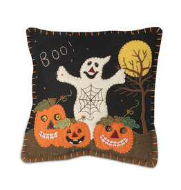 Bethany Lowe Designs Boo Pumpkin Patch Pillow