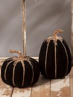 Bethany Lowe Designs Black Velvet Pumpkin