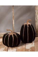 Bethany Lowe Designs Black Velvet Pumpkin asst.