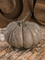 Bethany Lowe Designs Glass Glittered Pumpkin Lg