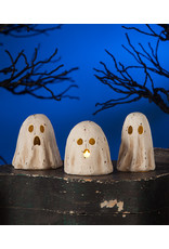 Bethany Lowe Designs Ghoulish Ghost Luminary Paper Mache set/3