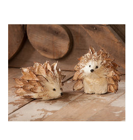 Bethany Lowe Designs Glittered Poppy Hedgehog (laying down)