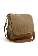 Brown Vintage Canvas Messenger Bag