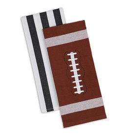 Design Imports Football Dishtowel Set of 2