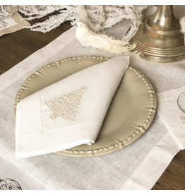 Crown Linen Designs Sparkle Tree Napkin(Platimum)