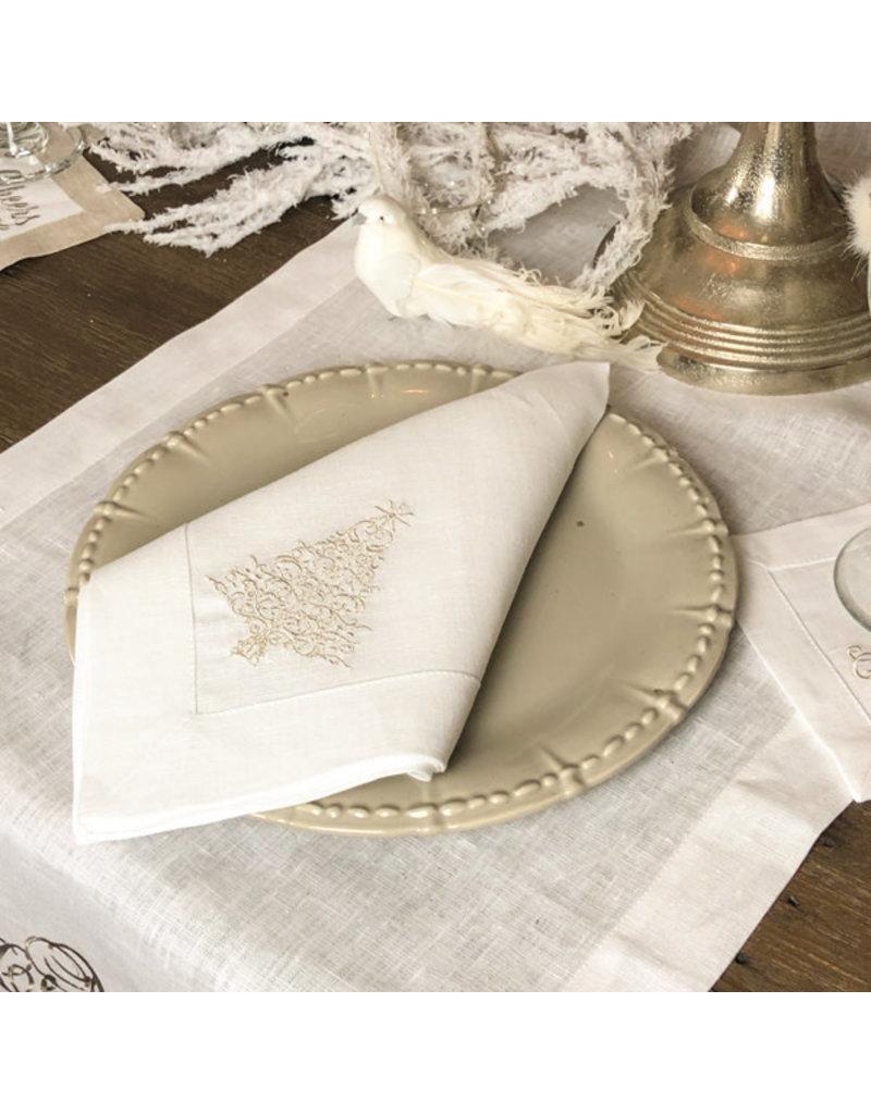 Crown Linen Designs Sparkle Tree Napkin(Platimum)