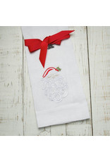 Crown Linen Designs Santa Claus, White Towel (White/Red)