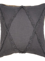 Ox Bay Trading 20 x 20 Pillow Dark Gray