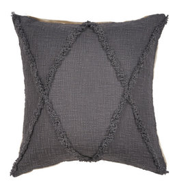 Ox Bay Trading 20 x 20 Pillow Dark Gray