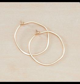 Freshie & Zero GF Minimal Hoop - Small Organic Circle