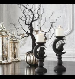 "K & K Interiors 28"" Black Wire 3 Votive Halloween Tree With Mercury Pumpkin Base"