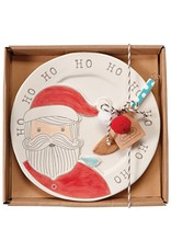 Mud Pie Santa Whimsical Cheese Plate Set