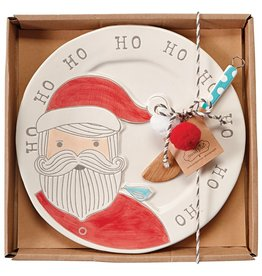 Mud Pie Santa Whimsical Cheese Plate Set
