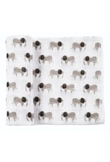 Mud Pie Muslin Elephant Swaddle Blanket