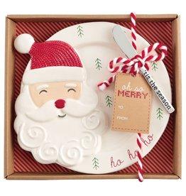 Mud Pie Christmas Cheese Set - Santa