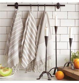 Mud Pie White Multi Gray Turkish Towel
