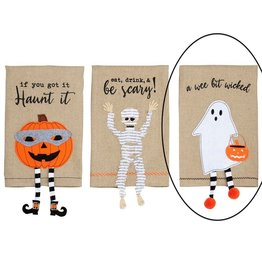 Mud Pie Ghost Dangle Leg Towels