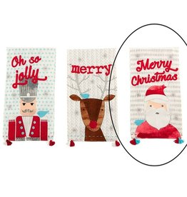 Mud Pie Santa Whimsical Hand Towel