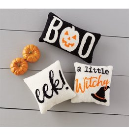 Mud Pie Eek Hooked Halloween Pillow