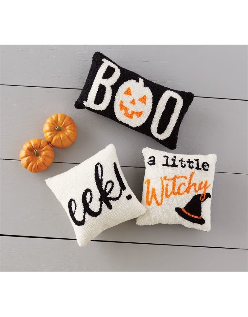 Mud Pie Eek Hooked Halloween Pillow