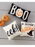 Mud Pie Witchy Hooked Halloween Pillow