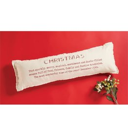 Mud Pie Christmas Definition Pillow