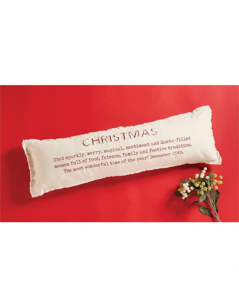 Mud Pie Christmas Definition Pillow